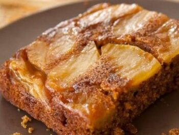 Apple Gingerbread Upside-Down Cake