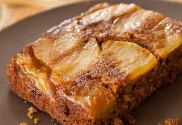 Apple Gingerbread Upside-Down Cake