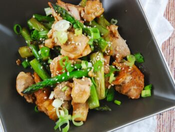 braised chicken and asparagus