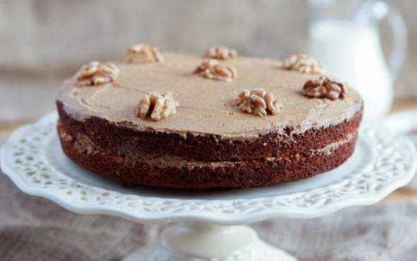 Caramel Frosted Chocolate Cake
