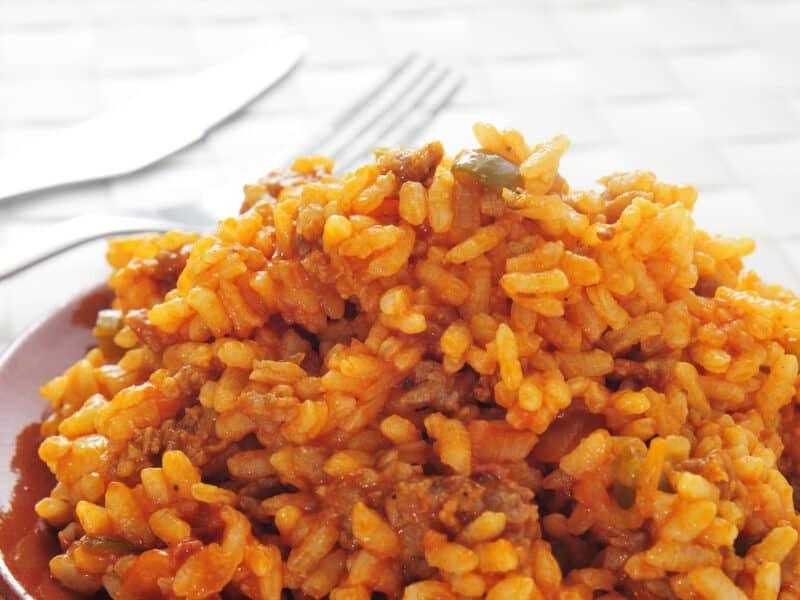 easy cheeseburger rice
