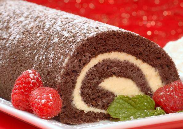 Chocolate Roll Cake Recipe