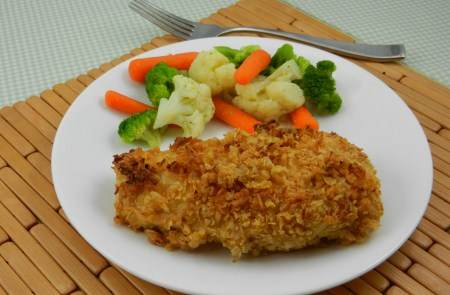 crunchy oven baked chicken recipe