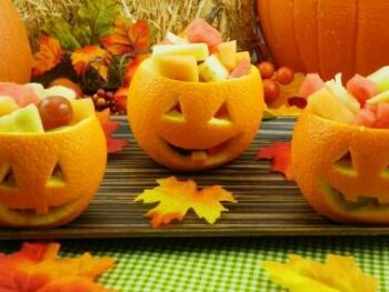 Halloween Jack O Lantern Fruit Salad Recipe