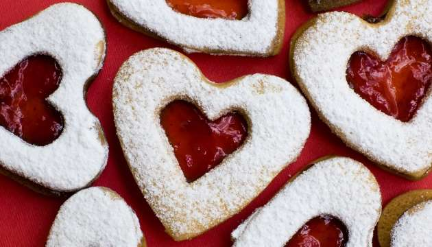Cherry Filled Heart Cookies