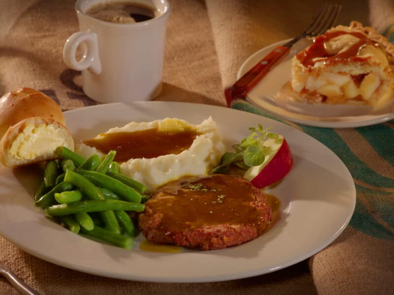 Swiss Steak with Beans and mashed Potatoes