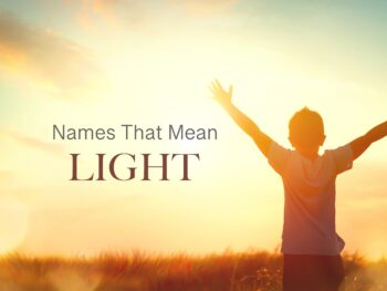 names that mean light - boy in field with bright sun
