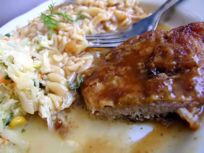 onion baked pork chop
