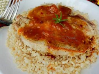 peach-pork-chops-with-brown-rice