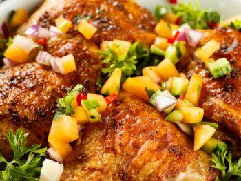 pineapple chicken glazed