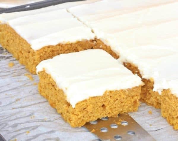 Pumpkin Sheet Cake with Cream Cheese Icing