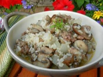 skillet-sausage-n-mushrooms-w-rice