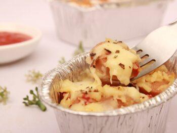 smoked sausage pasta bake